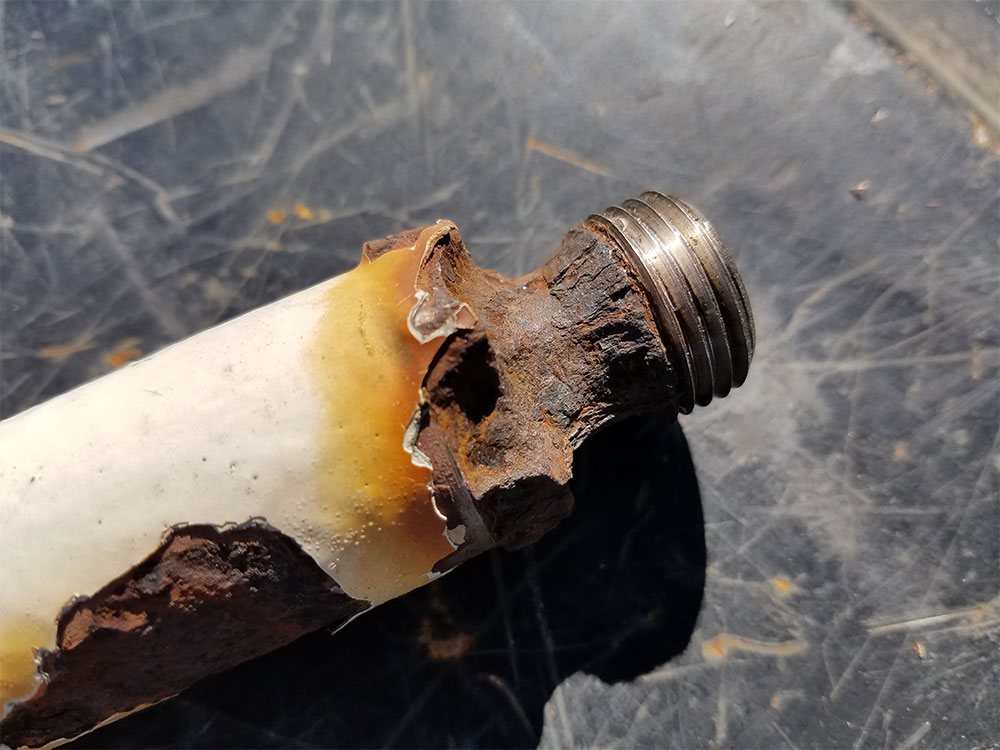 corroded DTR fitting