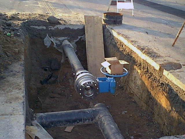 valve pit construction
